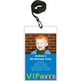 Photo VIP Pass Invitation with Lanyard (Choose Colors)