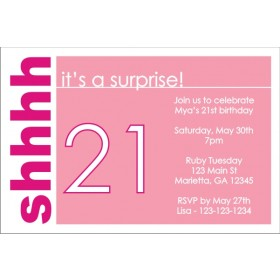Surprise Party Invitation (Pink)