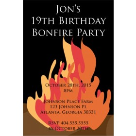 Fall Bonfire Party Invitation