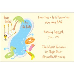 Pool Party Invitations 5