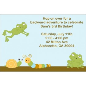 Leaping Frog Invitation
