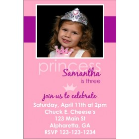 Princess Photo Invitation 4