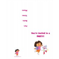 Dora the Explorer FREE Printable Birthday Party Invitation Personalized Party Invites