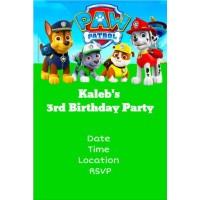 Paw Patrol Invitation Personalized Party Invites