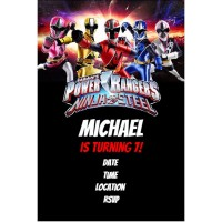 Power Rangers Ninja Steel Party Invitation Click To Personalize