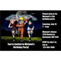 Naruto invitations 2 personalized party invites stopboris Choice Image