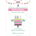 Celebration Cake Personalized Party Invitation template