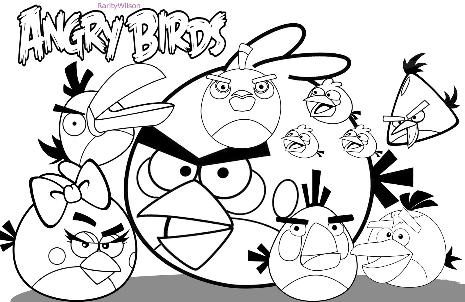 angry birds printable coloring page free