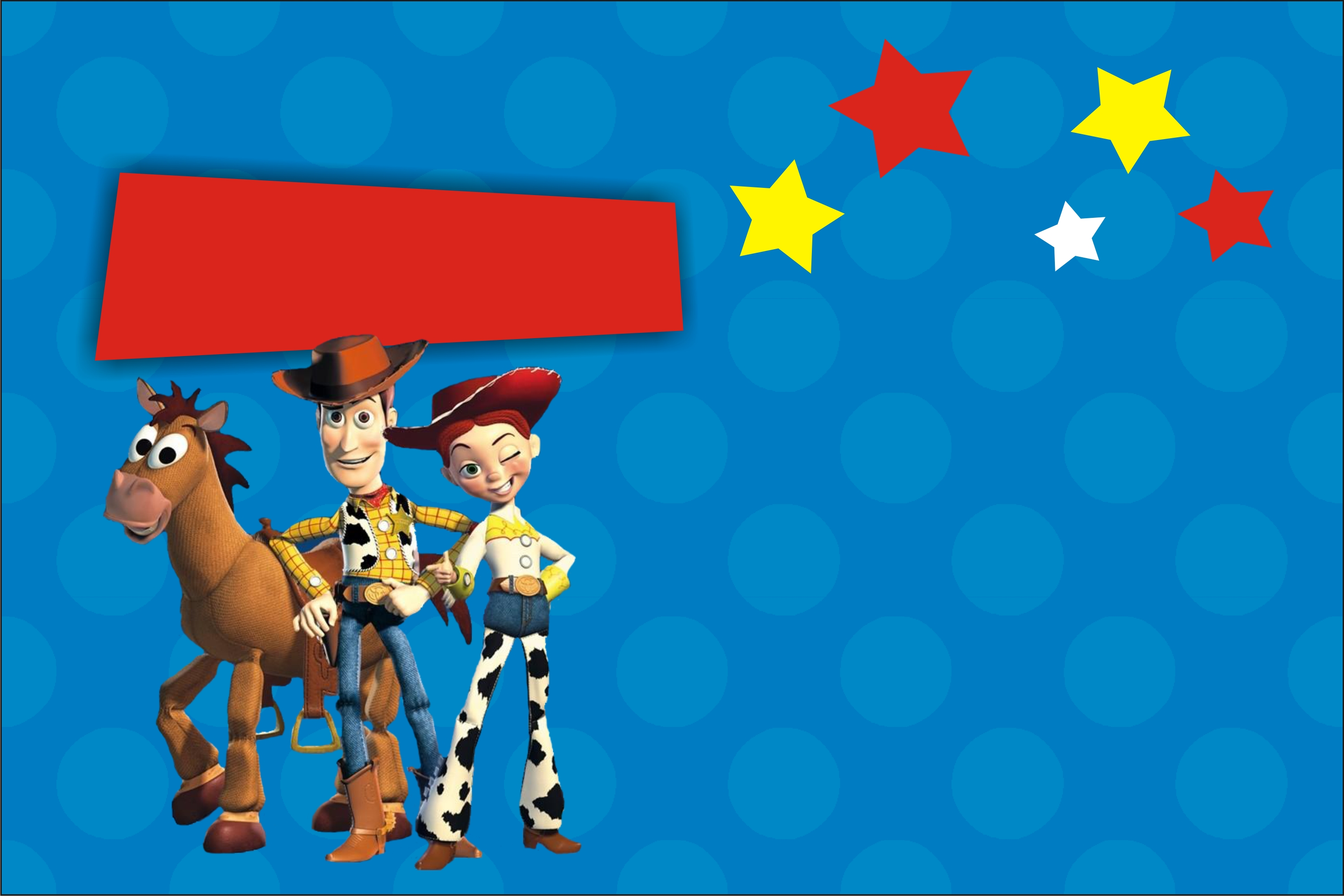 Toy Story Invitation (Jessie and Woody) with Optional ...