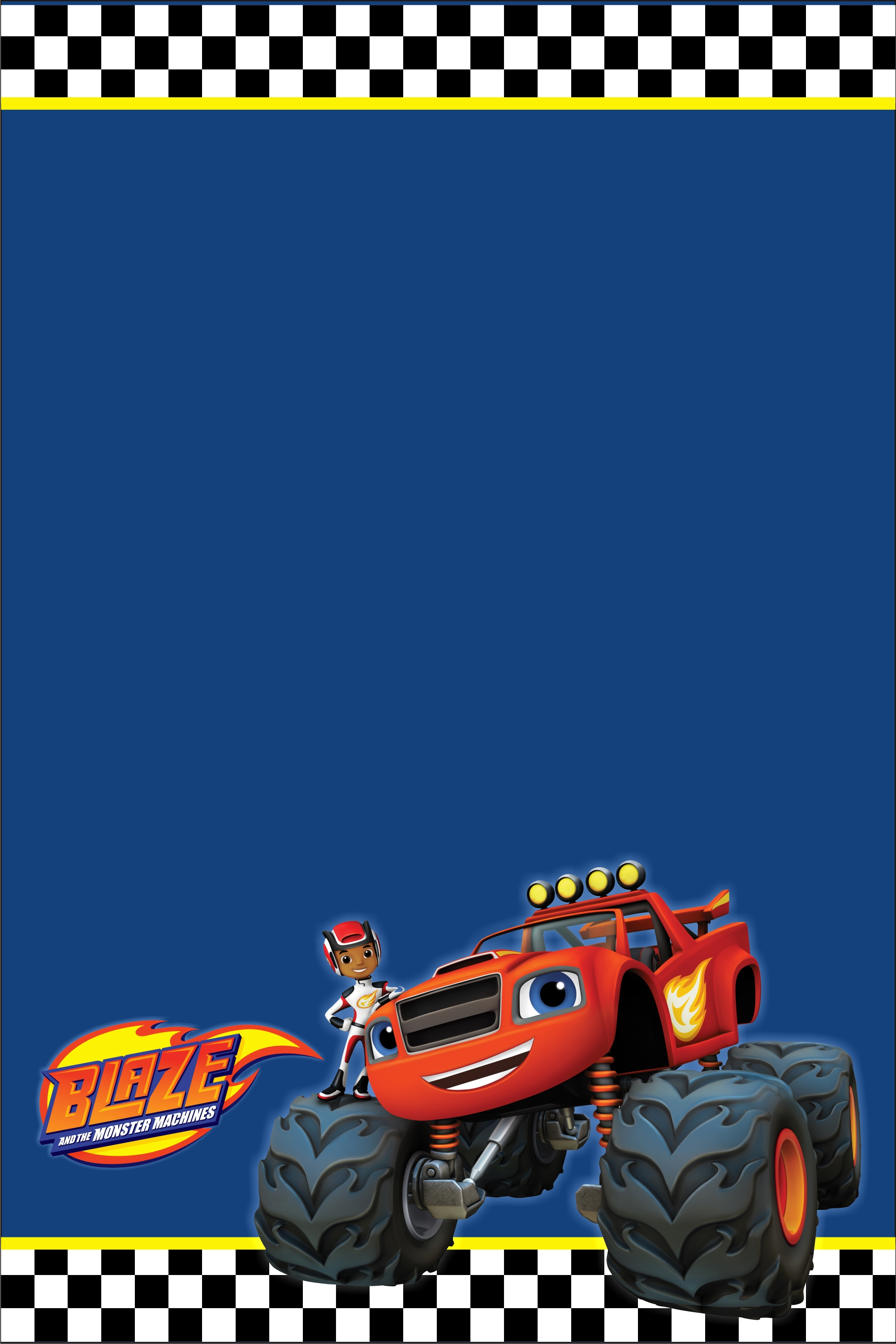 Blaze and the Monster Machines Party Invitation ...