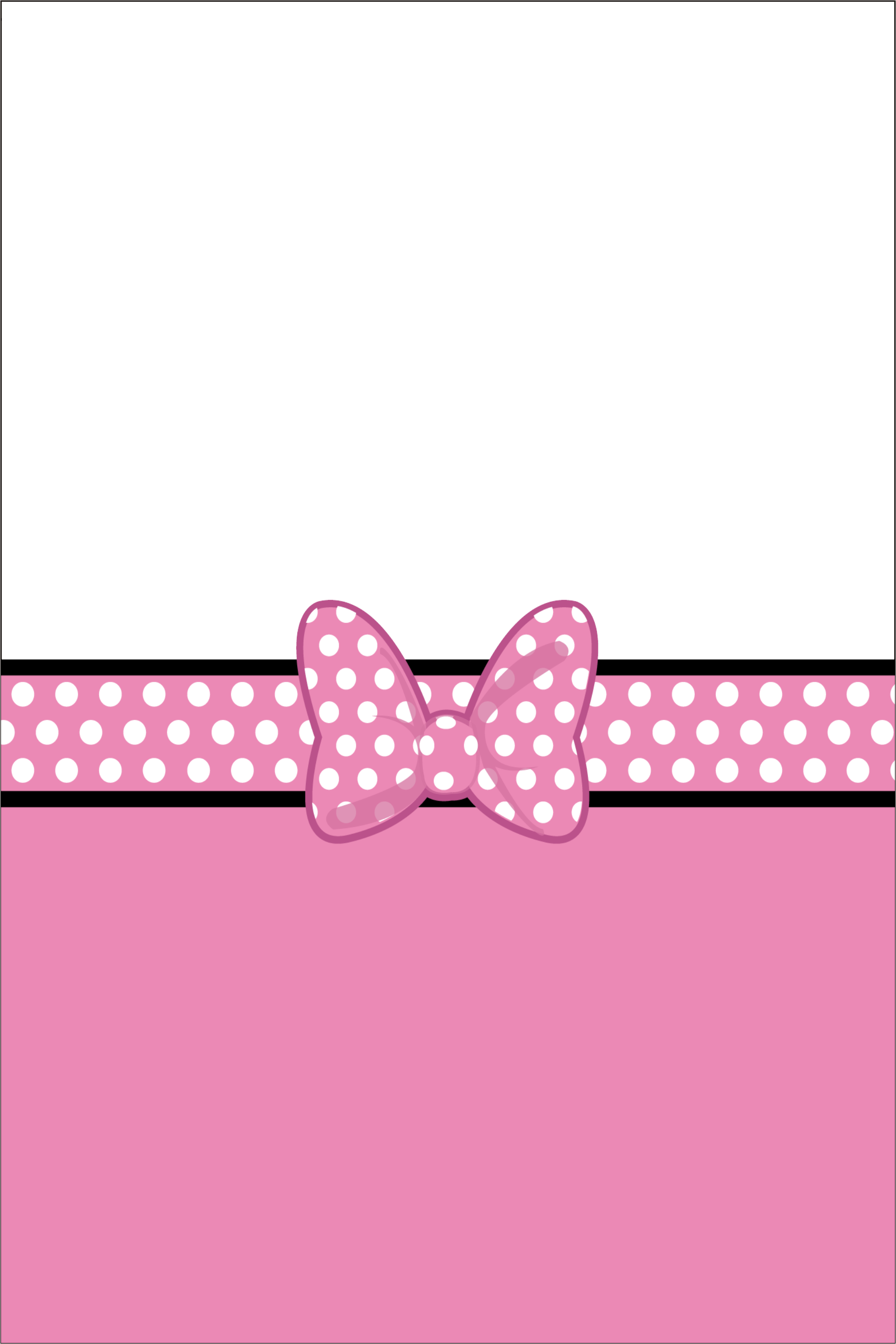 pink bow photo invitation  similar to minnie mouse