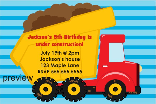 birthday invitation example