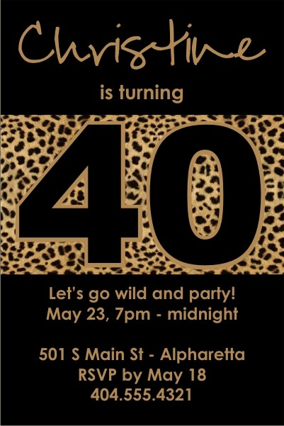 Totally Wild Leopard Print Invitation
