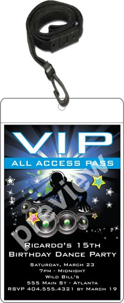 VIP Pass Invitation