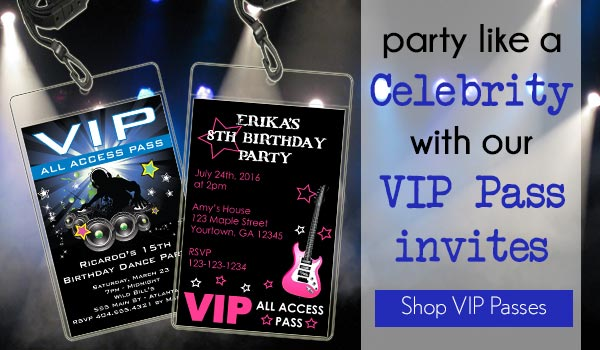 picture about Free Printable Vip Pass Template referred to as Birthday Bash Invites Quick - Printable Templates