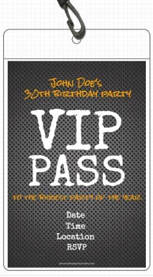 Metal Grid VIP Pass Invitation with Lanyard