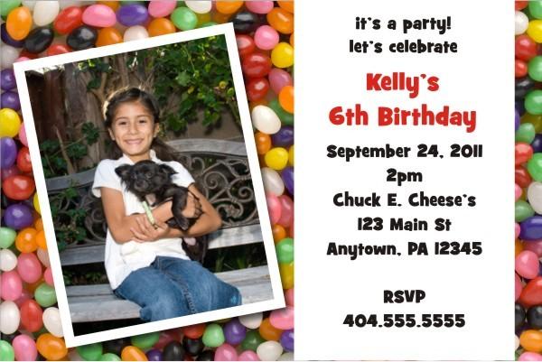 Jelly Beans Fun Photo Invitation