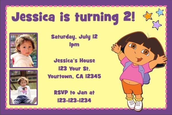 Dora the Explorer Photo Invitations 2
