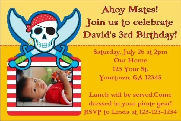 Pirate Photo Invitation