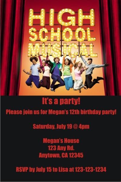 High School Musical Invitations