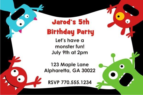 Little Monsters Invitation - Four Corners
