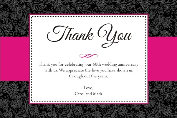 Sophisticated Floral Thank You Card