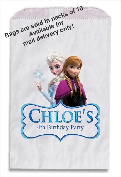 frozen party favor gift treat bags