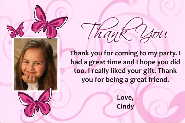 Butterfly Photo Thank You Cards