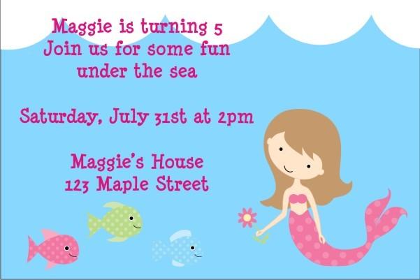 Mermaid Birthday Invitation 2 - Select a Mermaid