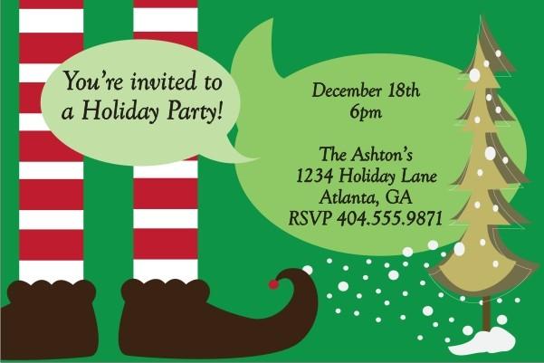 Santa's Helper Christmas Holiday Party Invitation