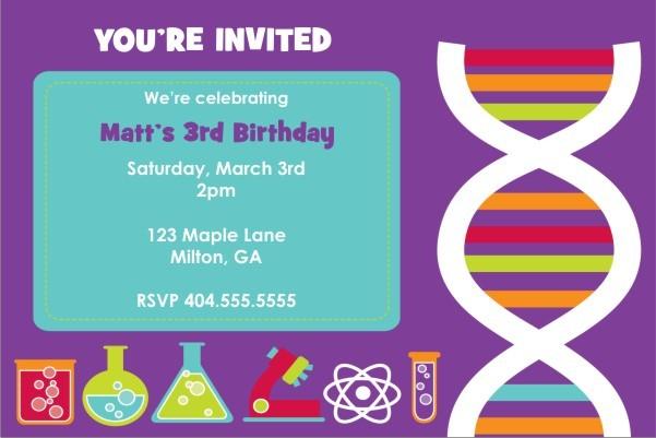 Monster Science Invitation - DNA