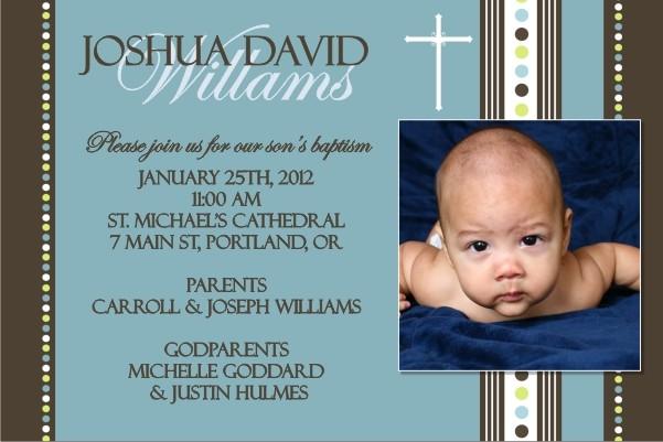 Communion / Baptism Photo Invitation 6 - Blue