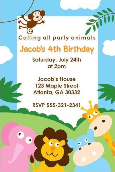 Party Animals Invitation