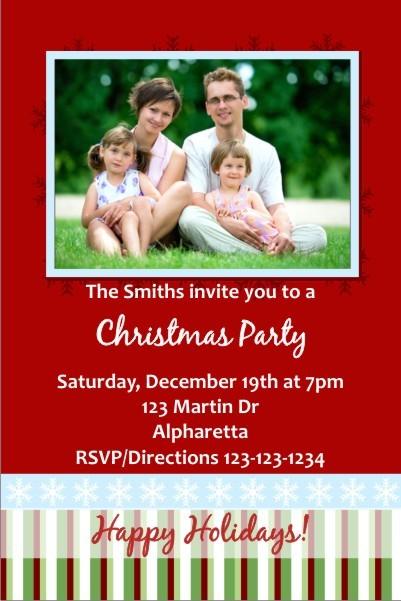 Christmas / Holiday Party Photo Invitation