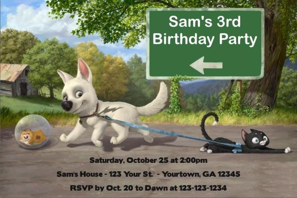 Bolt (Disney) Invitations