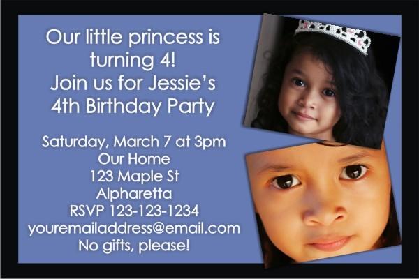 Photo Invitation 13 (Baby Blue and Black)