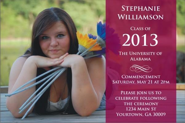 Graduation Photo Announcement Party Invitation