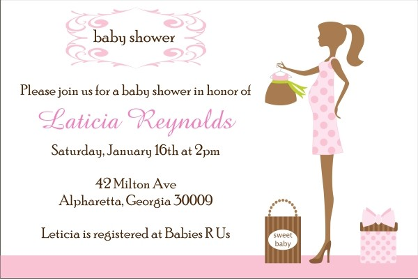 Modern Chic Mom to Be Baby Shower Invitation - Pink