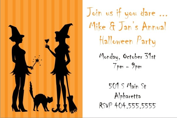 Witch Fun Halloween Party Invitation