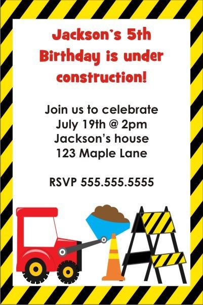 Dump Truck Under Construction Invitation