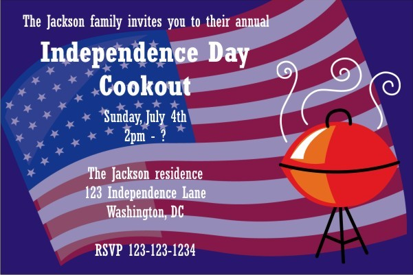 Fourth of July 4th Independence Day Invitation 3