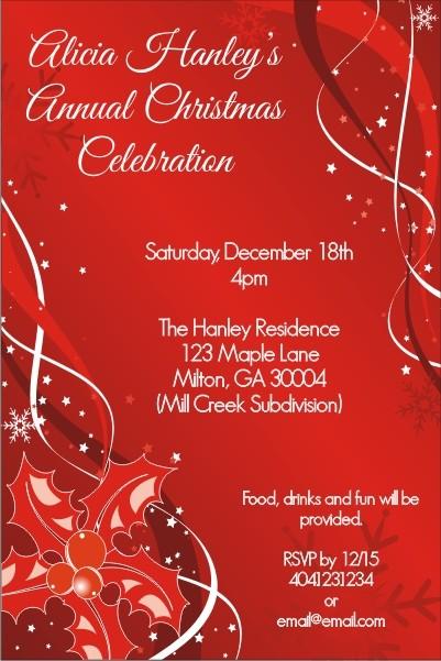 Tis the Season Christmas Holiday Card Party Invitation