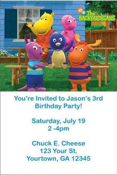 Backyardigans Invitations