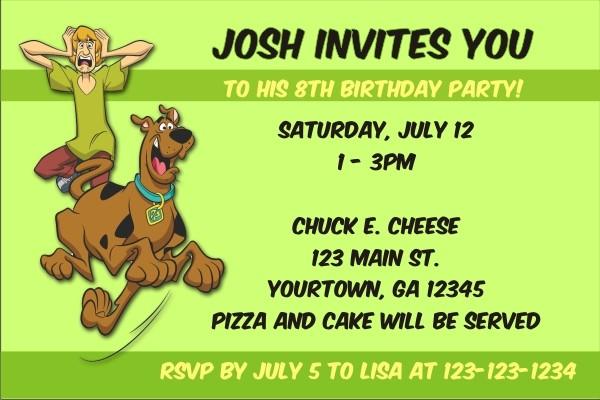 Scooby Doo Invitations 2
