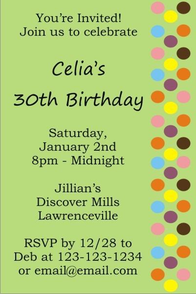 Dot Sprinkles Invitation