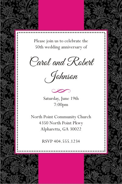 sophisticated floral invitation