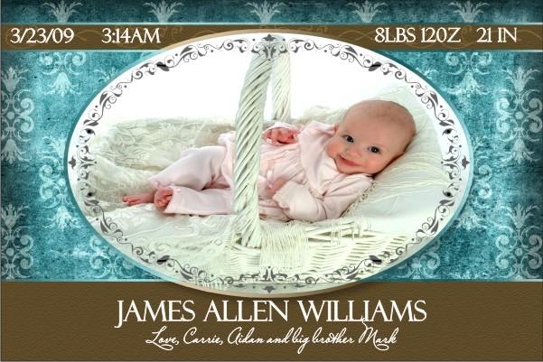 Newborn Baby Birth Announcement 4 (blue)