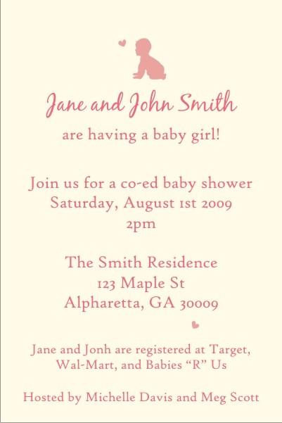 Baby Shower Invitation (Girl)