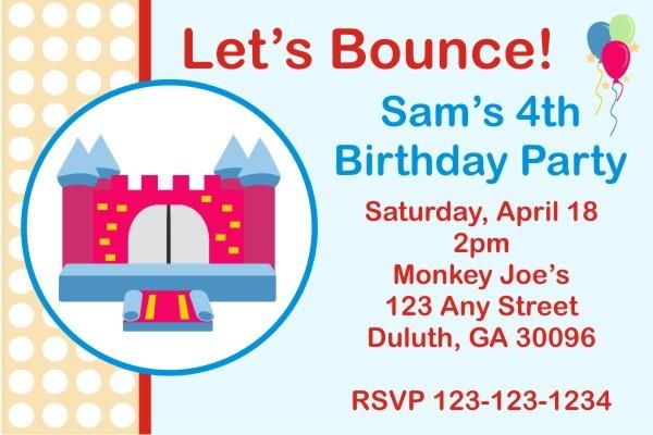 Bounce House / Castle Invitation 2