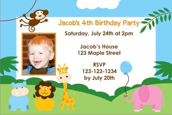 Party Animals Invitation 2 - Photo